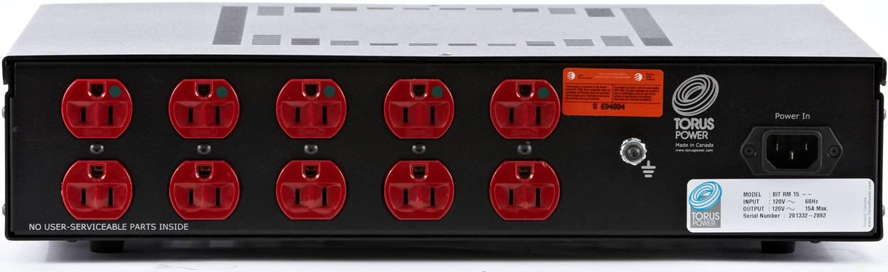 Torus Power RM-15 Rear Panel