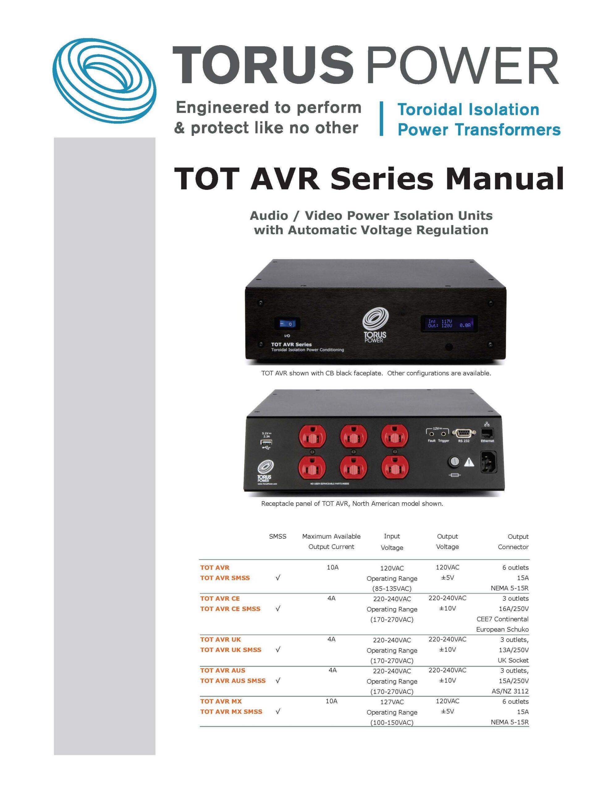 TOT AVR Manual