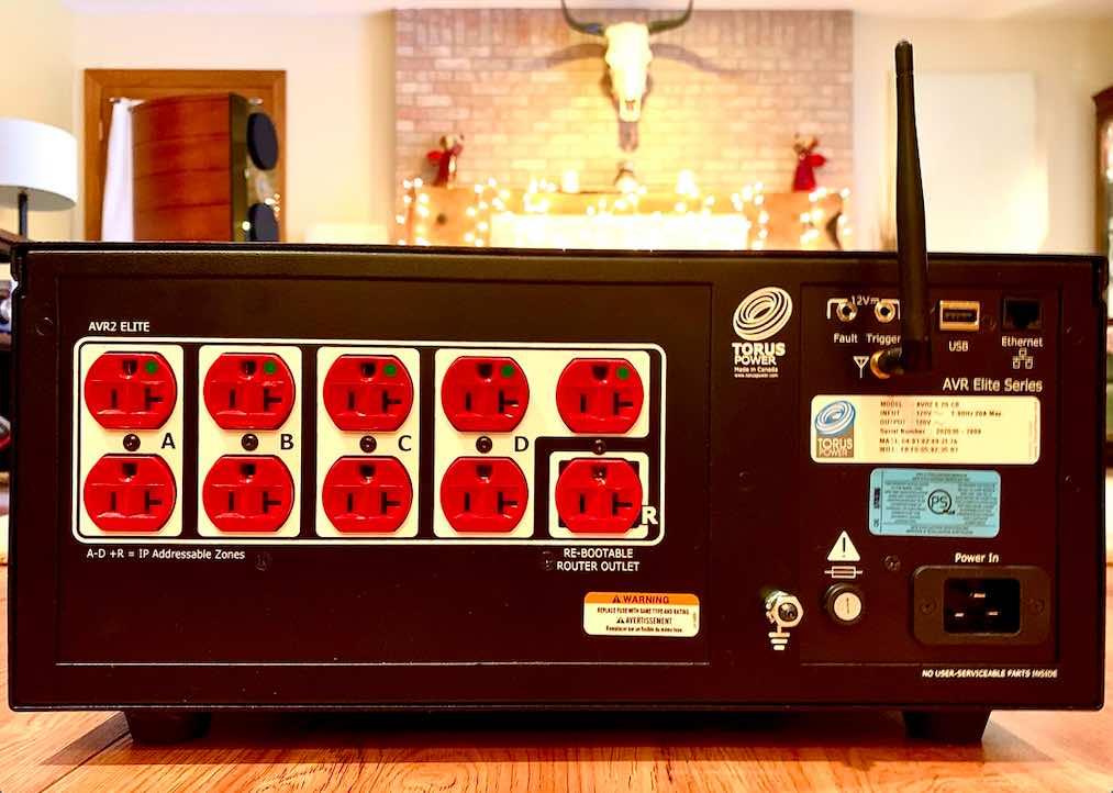 AVR 20 Rear Panel